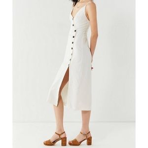 0fd3b52ab0 Urban Outfitters Dresses - UO Amber Button-Down Linen Midi Dress